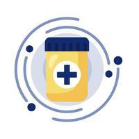 garrafa de medicamentos prescritos
