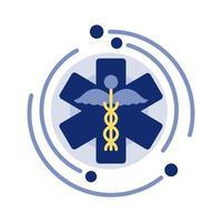 símbolo médico de farmácia vetor