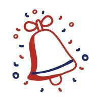 ícone de estilo de linha de festa de som de sino vetor