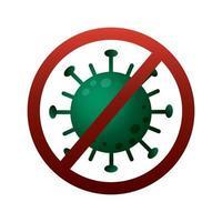 parar o estilo gradiente de partícula do vírus covid19