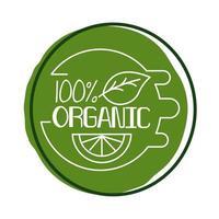 Estilo de bloco de letras 100% orgânico vetor