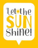 Deixe o poster da arte da parede do brilho do sol vetor