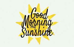 Cartaz da arte da parede do sol do bom dia de Sunshine vetor