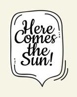 Aqui vem o poster bonito da arte da parede do sol vetor