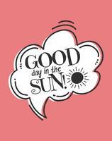 Bom dia no poster da arte da parede do sol vetor