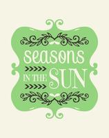 Estações no cartaz da arte da parede do sol vetor