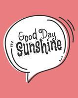 Cartaz bonito da arte da parede do sol do sol do bom dia vetor