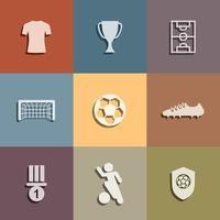conjunto de ícones de árbitro de futebol. sinal e símbolo abstratos do futebol. vetor. vetor