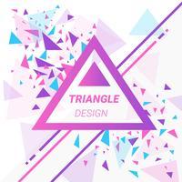 Fundo de triângulos abstratos modernos vetor