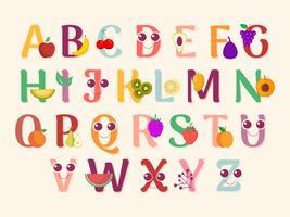 arte do alfabeto bonito para sala de crianças vetor