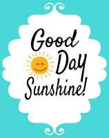 Cartaz tipográfico de Sun Quote para sala de crianças vetor