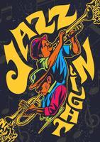 Poster psicadélico do concerto do jazz vetor