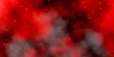padrão de vetor vermelho escuro com estrelas abstratas.