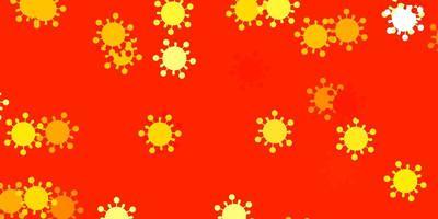textura vetorial laranja claro com símbolos de doenças