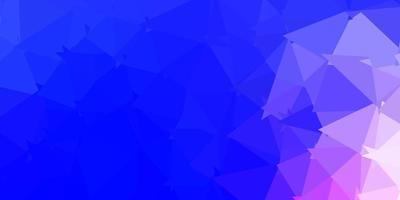 padrão poligonal de vetor rosa claro, azul.