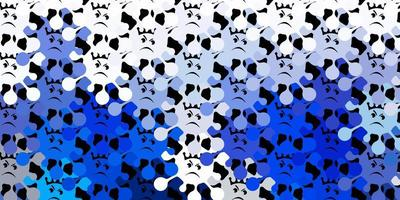 fundo vector azul escuro com símbolos covid-19.
