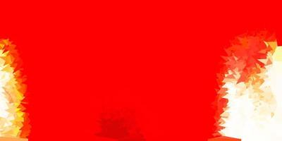 desenho poligonal geométrico vector vermelho claro.