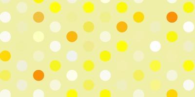 textura de vetor amarelo claro com discos.