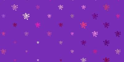 textura de vetor roxo, rosa claro com símbolos de doença.