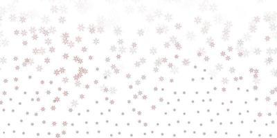 modelo abstrato de vetor rosa claro com folhas.