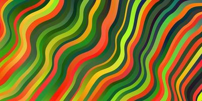pano de fundo vector multicolor escuro com arco circular.