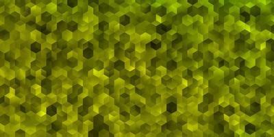 modelo de vetor verde e amarelo claro em estilo hexagonal.