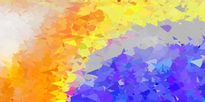 textura de triângulo abstrato de vetor amarelo escuro.