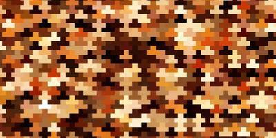 padrão de vetor laranja escuro em estilo quadrado.