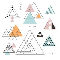 Coleção de vetores de triângulos abstratos