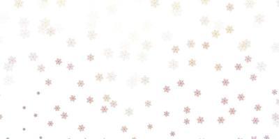 textura de doodle de vetor vermelho claro com flores.