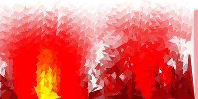 papel de parede poligonal geométrico de vetor vermelho e amarelo escuro.
