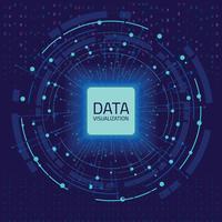 Visualização gráfica de dados. Visualização de grande análise de dados com linhas, pontos e elementos de seta