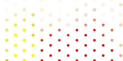 padrão de vetor vermelho claro e amarelo com esferas