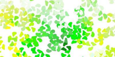modelo de vetor verde e amarelo claro com formas abstratas.
