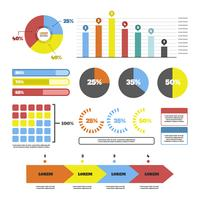 Coleção de vetores de elementos de visualização de dados
