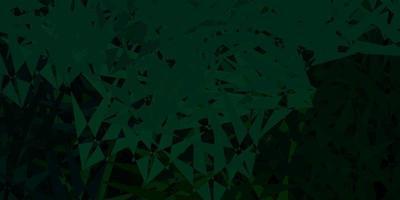 fundo vector verde escuro com triângulos.
