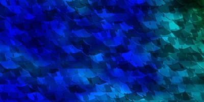 textura vector azul claro, verde com estilo triangular.