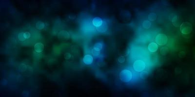 textura vector azul, verde escuro com círculos.