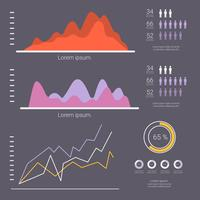 Vetor de visualização de dados planos