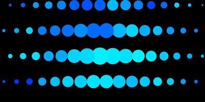layout de vetor de azul claro com círculos.