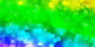 luz de fundo multicolor vector com pontos.