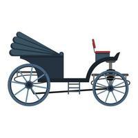 ilustração em vetor carruagem retrô isolada no fundo branco