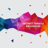Fundo abstrato do vetor dos triângulos