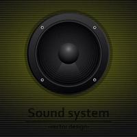 ilustração de design de vetor de alto-falantes de áudio