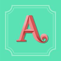 Letra A Tipografia vetor