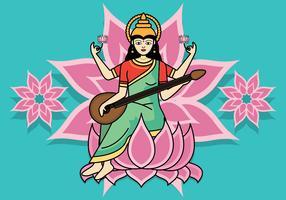 Ilustração em vetor de Saraswathi