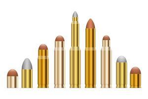 arma bala vector design ilustração isolada no fundo branco
