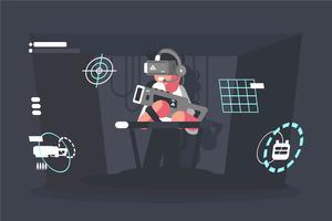 Ilustração da experiência da realidade virtual