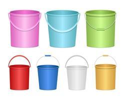 ilustração de desenho vetorial balde realista isolada no fundo branco vetor