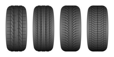 ilustração de desenho vetorial de pneu de carro isolada no fundo branco vetor
